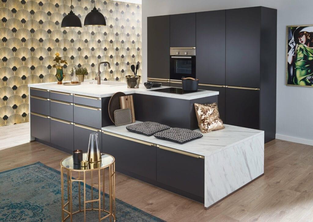 Bauformat Modern Matt Kitchen With Island 1 | MHK Kitchen Experts