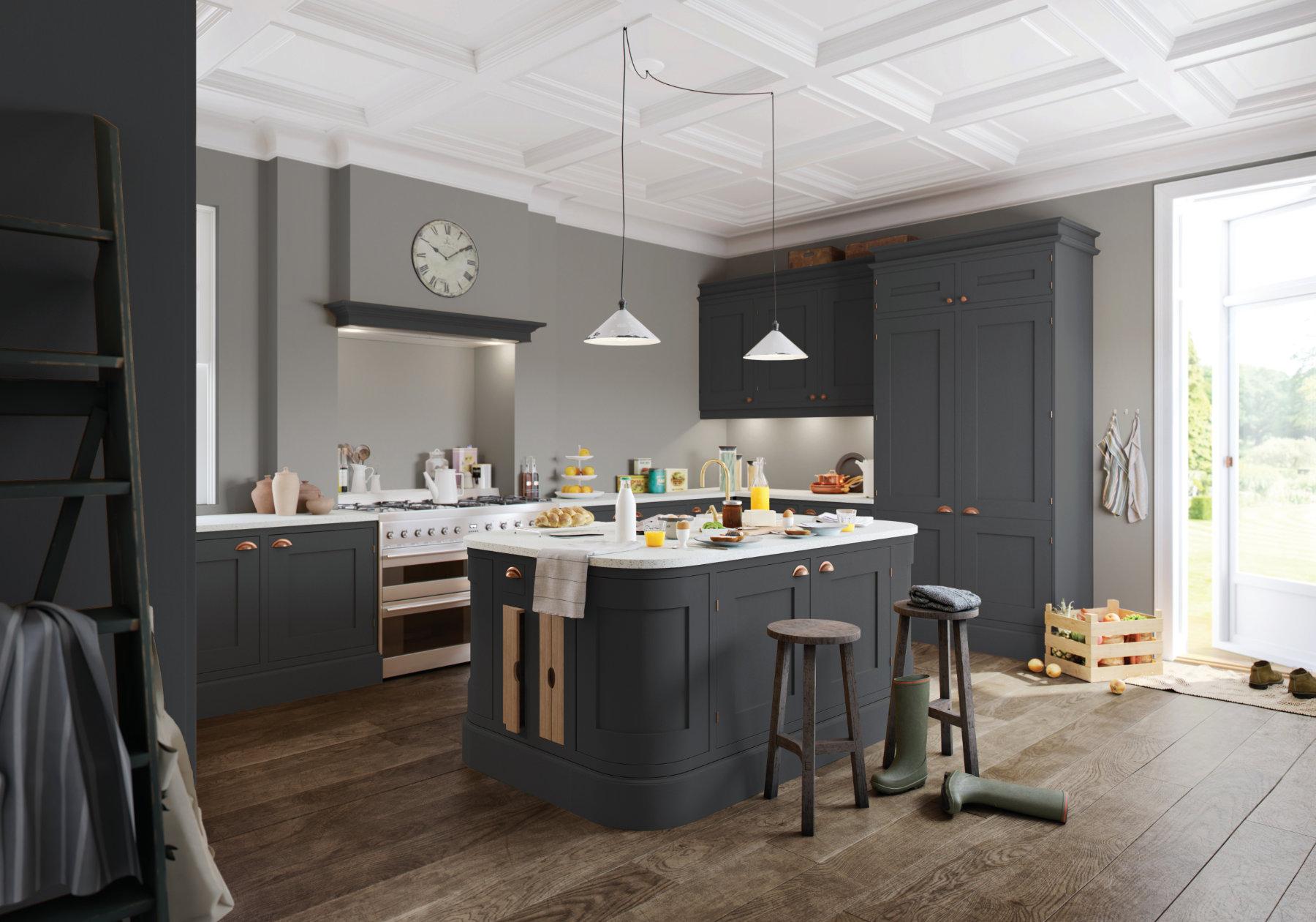 Manor Interiors Grey Shaker Kitchen | MHK Kitchen Experts