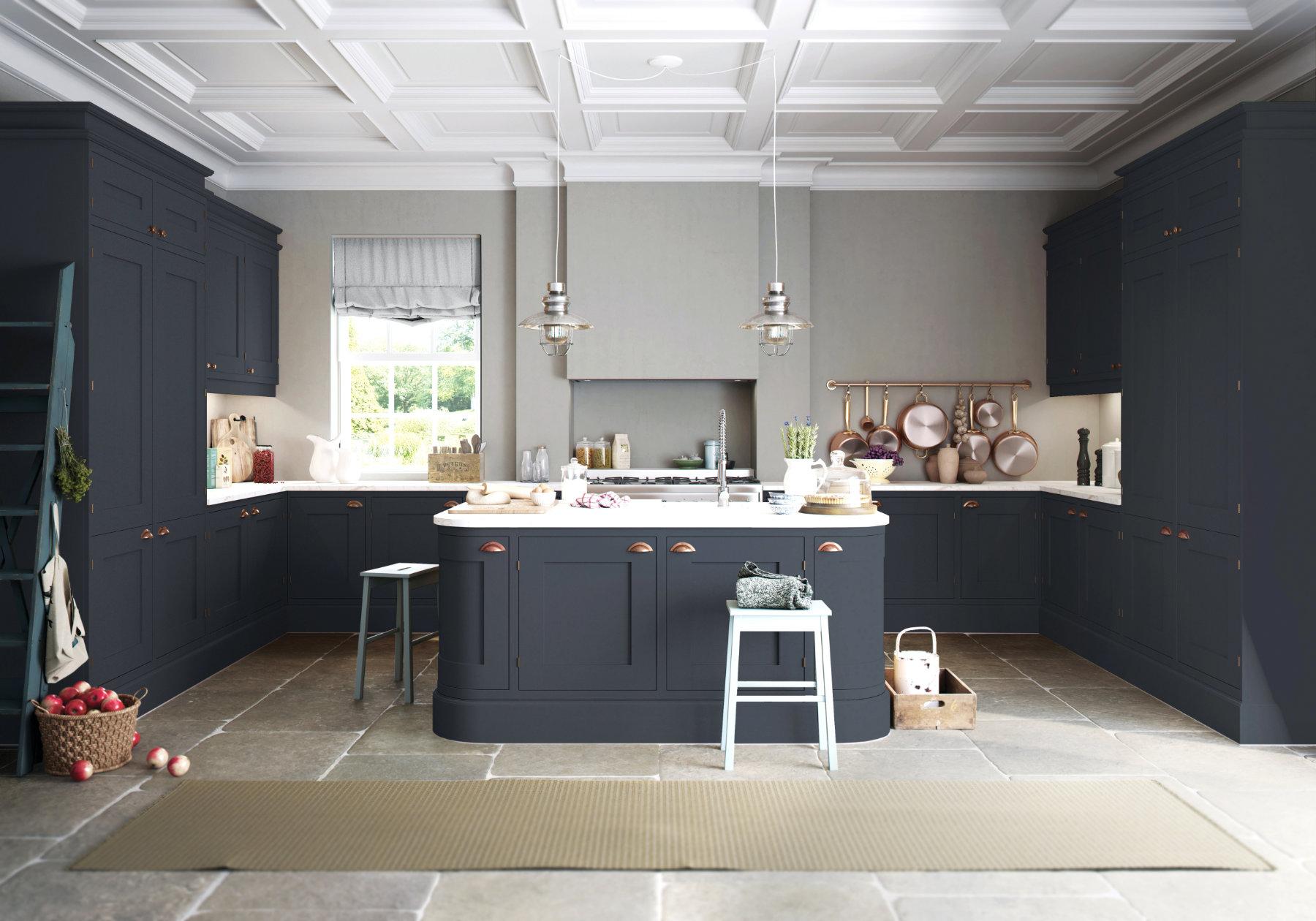 Manor Interiros Dark Shaker U Shaped Kitchen | MHK Kitchen Experts